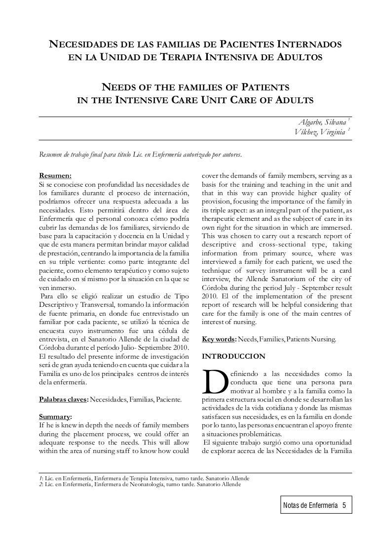 3 necesidad de los familiares de pacientes internados