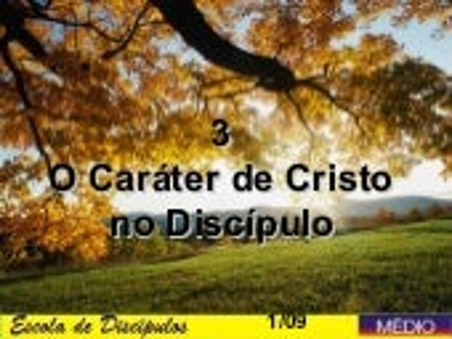 3.o carater de cristo