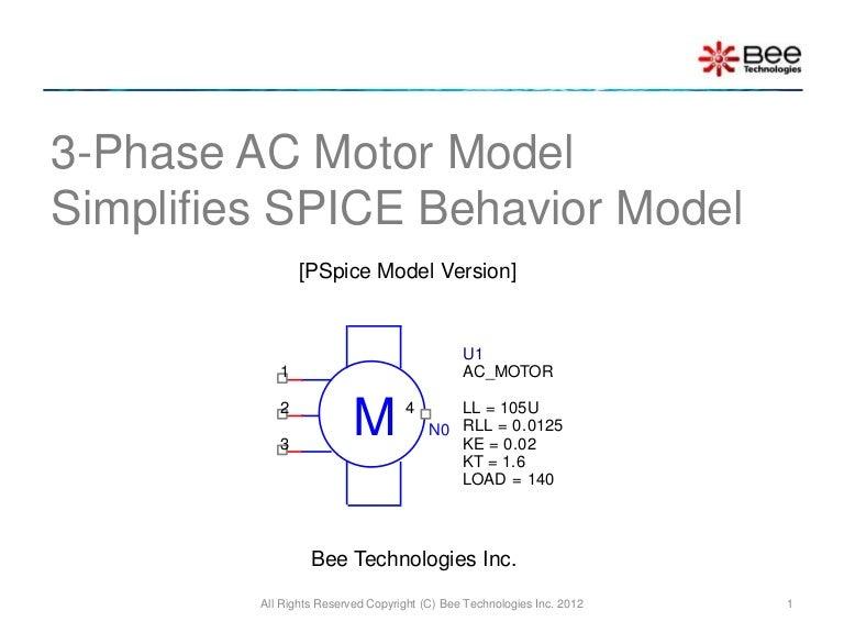 3 Phase Ac Motor Model Pspice Model