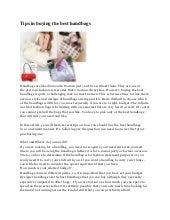 Tips in buying the best handbags