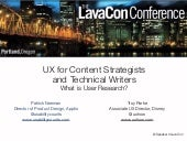 Lavacon: What Is User Research?