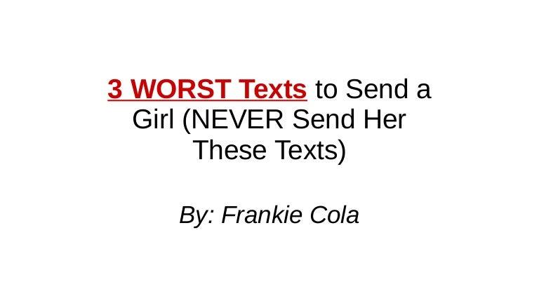 send her a cute text