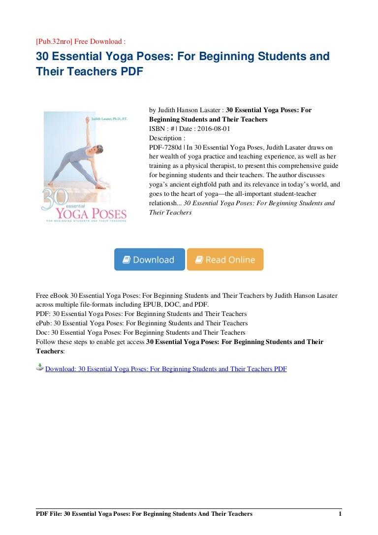 30 Essential Yoga Poses Beginning Ebook Pdf 71a84d9fe