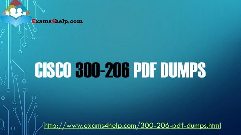 Cisco 300-206 Dumps