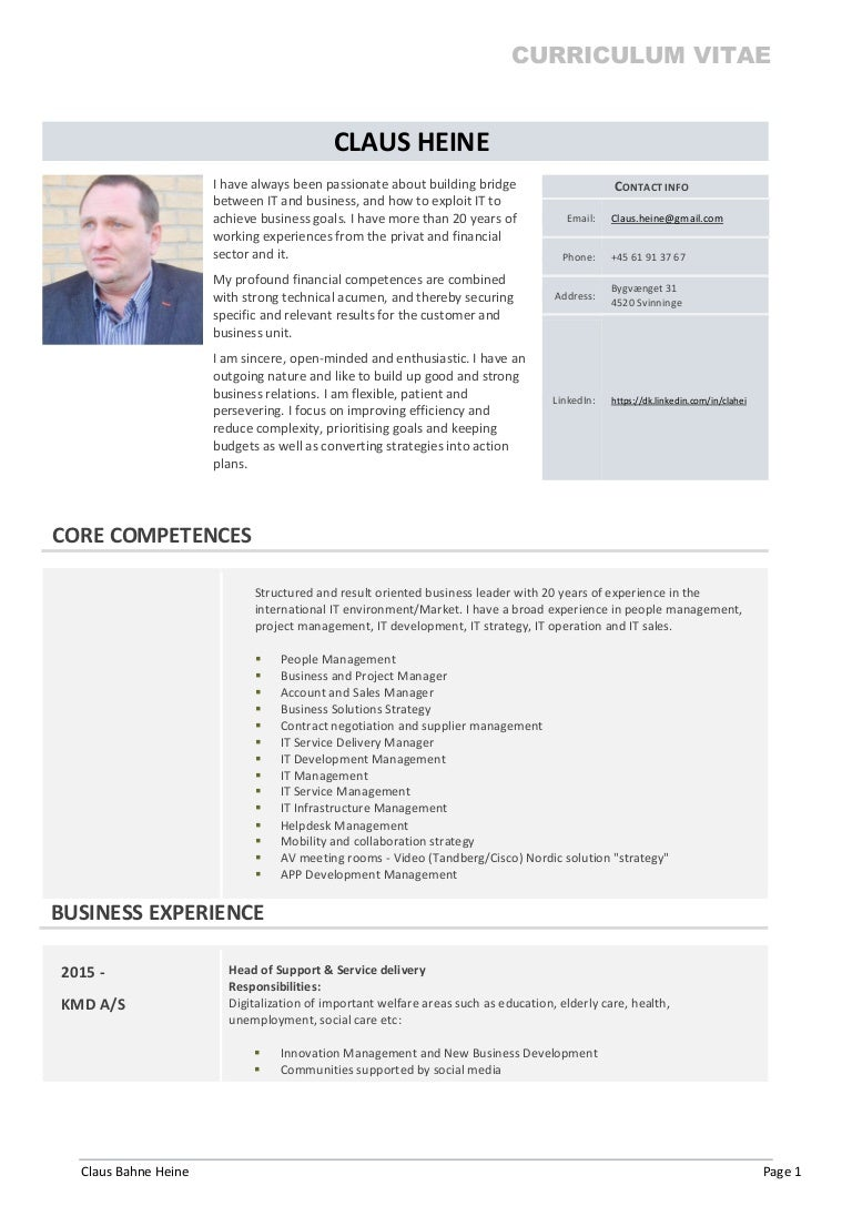 claus heine cv english full