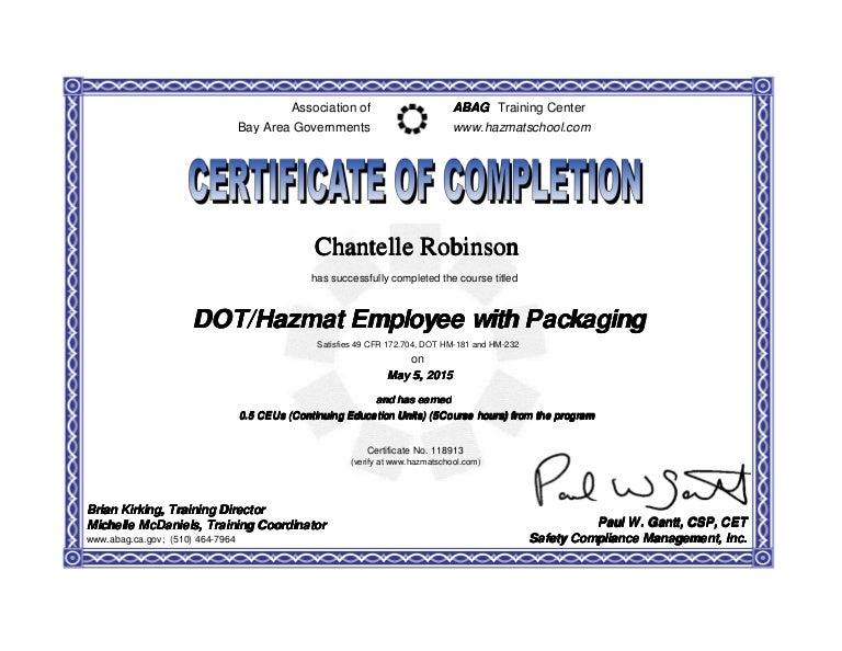 certificate dot hazmat