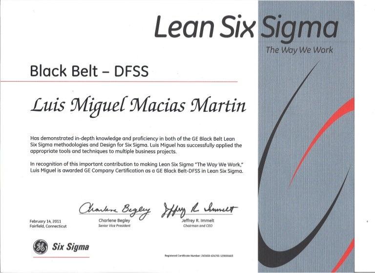 Ge Lean Six Sigma Black Belt Dfss