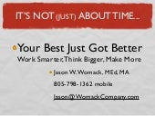 Think Thursday: Your Best Just Got Better: Work Smarter, Think Bigger, Make More