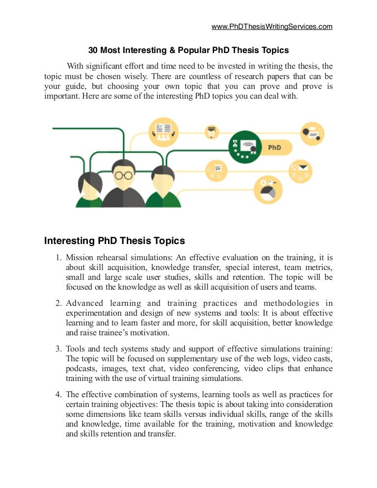 Phd thesis subject