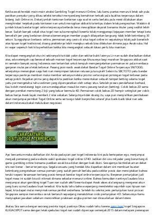 Togel Online Singapura SGP Terpercaya Indonesia
