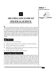 meaning and scope of political sociology
