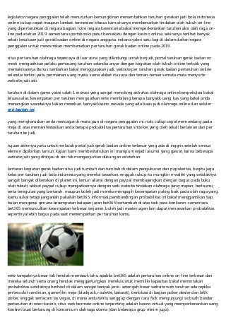 Judi Bola Indonesia Terpercaya