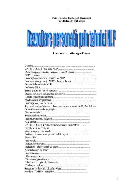 Programare neuro-lingvistica (NLP) | sorinfitu.ro