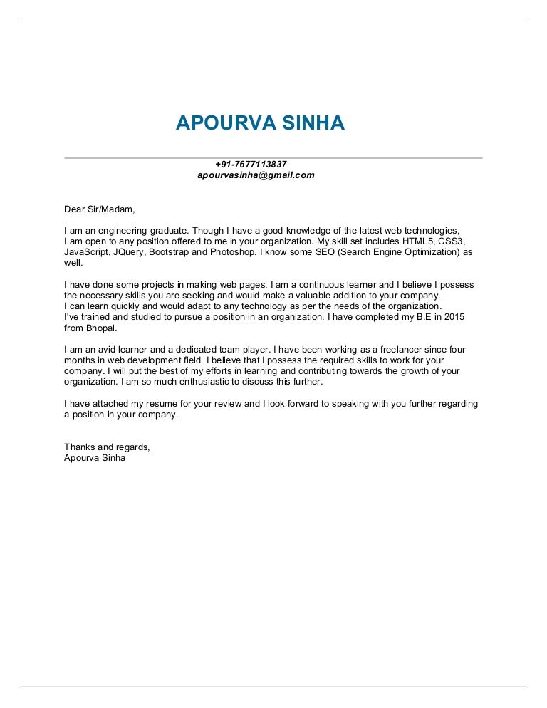 (732838713) APOURVA SINHA RESUME U0026 COVER LETTER WEB DEVELOPER  I Have Attached My Resume