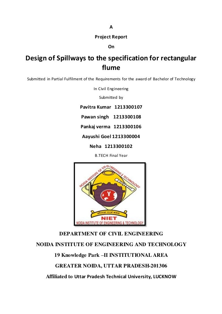 report of project spillways 1