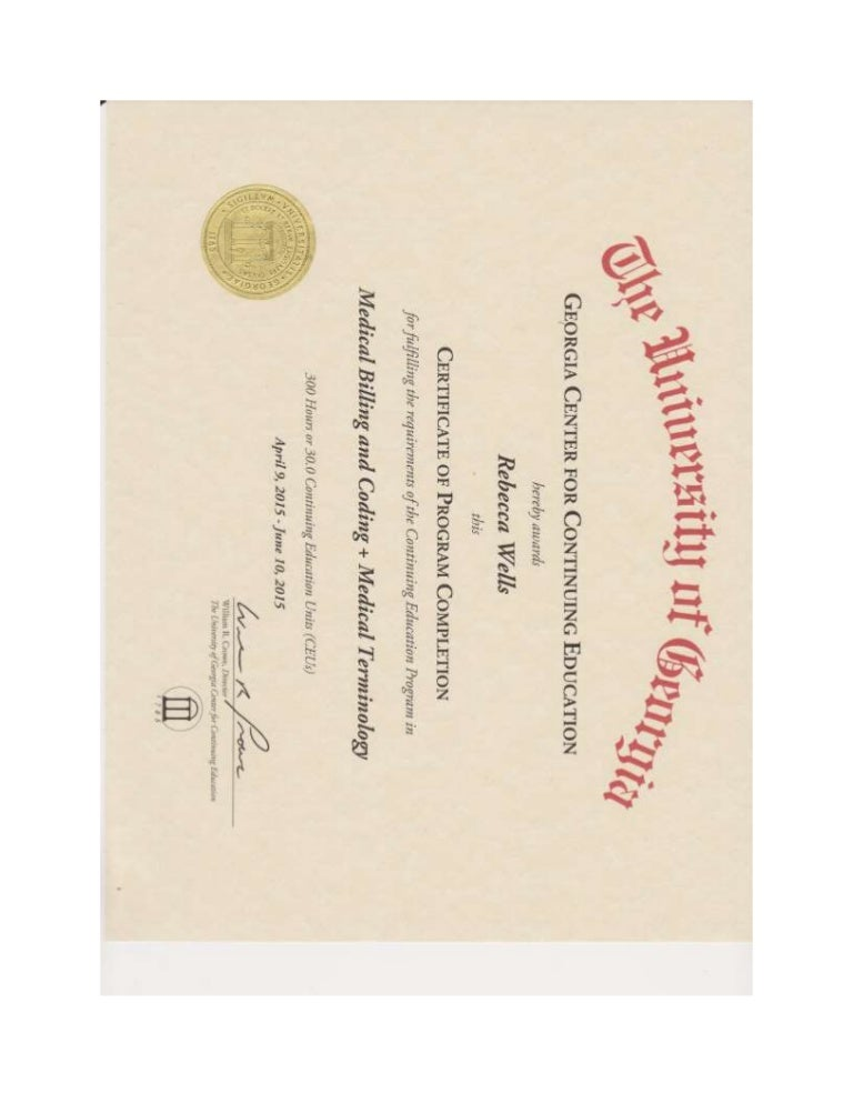 Medical Terminology And Medical Billing And Coding Certificate