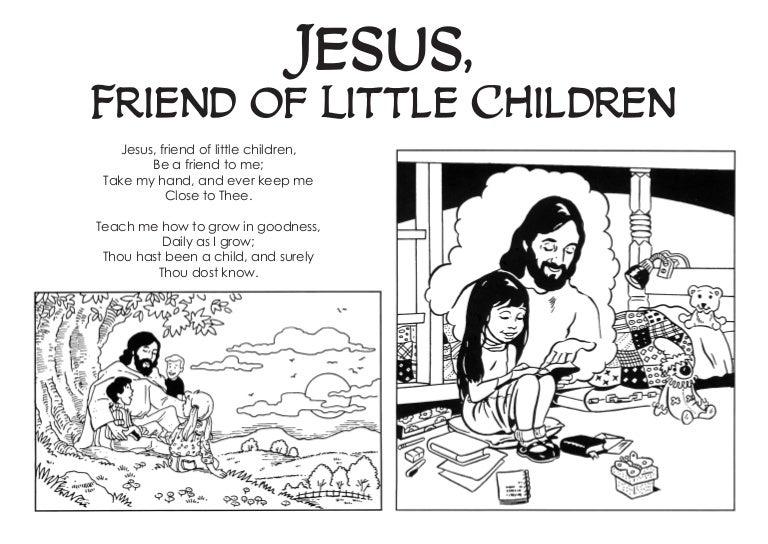 - Jesus, Friend Of Little Children- Coloring Book