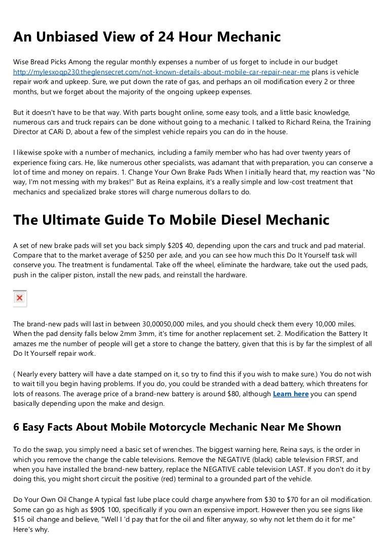 The 6 Minute Rule For Mobile Car Repair Near Me