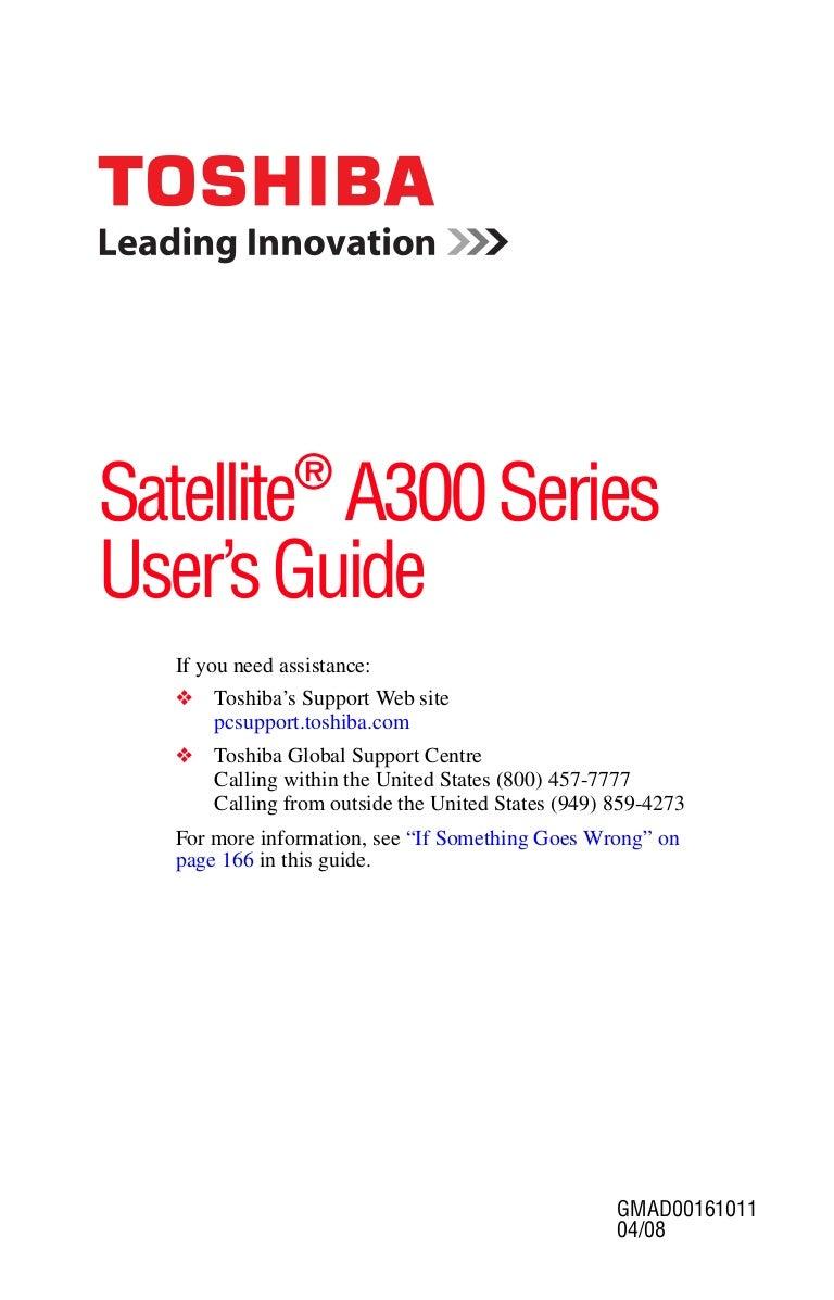 toshiba user manual for satellite a305 s6905 download rh slideshare net toshiba satellite pro a300 repair manual Toshiba Satellite A300 Specs