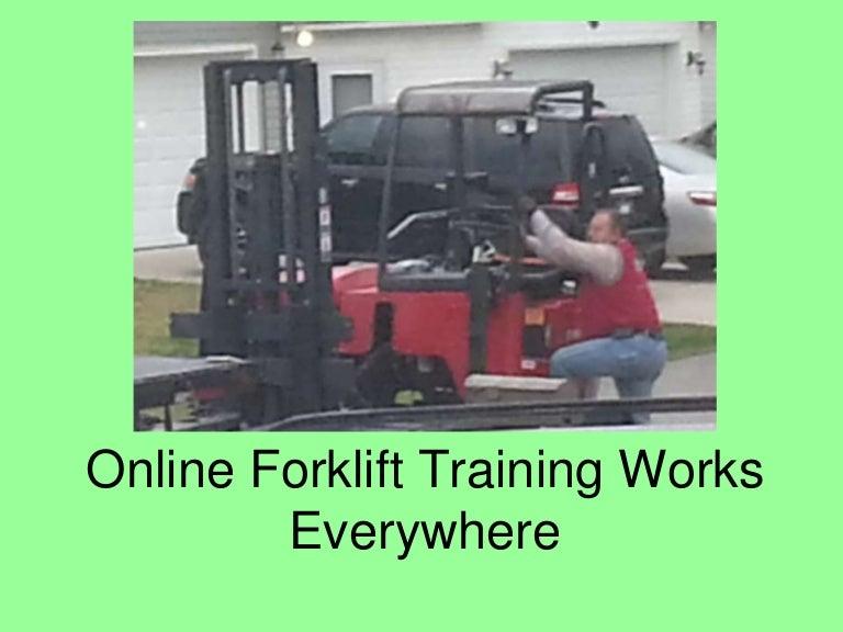 Online Forklift Training Works Everywhere