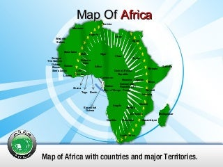 Africa PowerPoint Map, Africa Map PPT