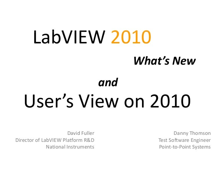 Whats New In LabVIEW 2010