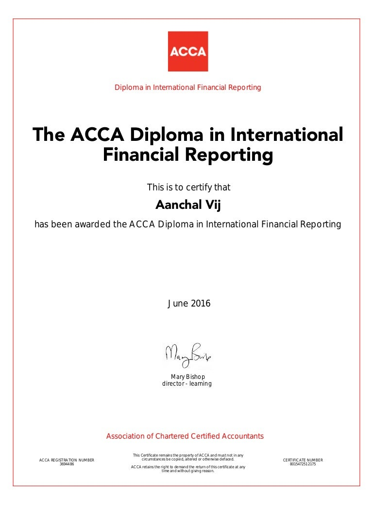 Acca certificate xflitez Images