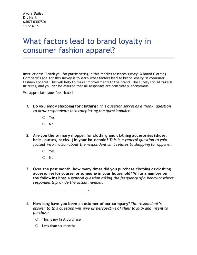 What Factors Lead to Brand Loyalty in Consumer Fashion ...