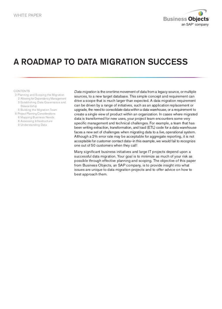 sap data migration lead resume cipanewsletter a roadmap to data migration success