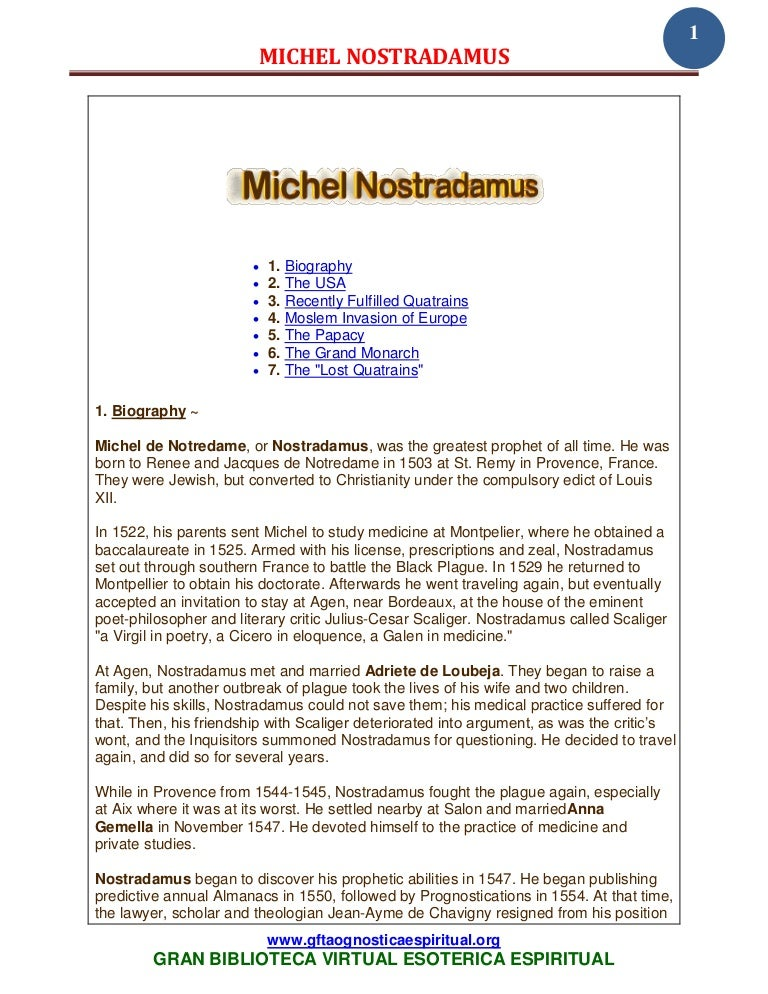 33 22 michel nostradamus www gftaognosticaespiritual org