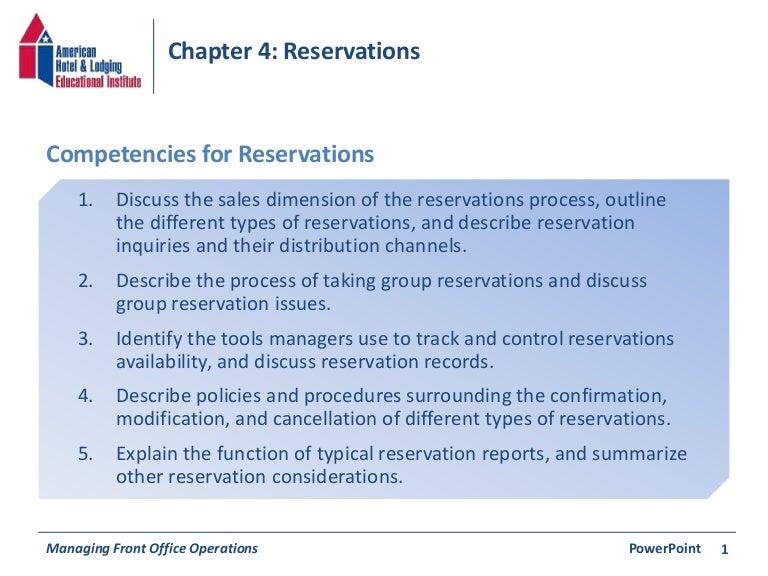 chapter 4 reservations rh slideshare net Hotel Reservation Agent Home-Based Reservation Agent Job Openings