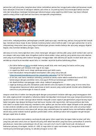 Bandar Judi Bola Online Teraman Di Mayapada