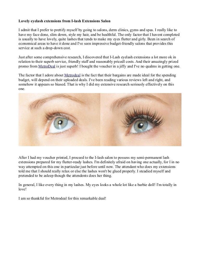 Lovely Eyelash Extensions From I Lash Extensions Salon