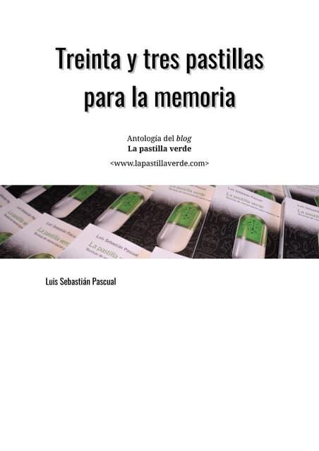 33 pastillas para la memoria