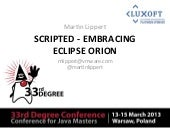 Scripted - Embracing Eclipse Orion
