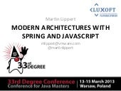 Modern Architectures with Spring and JavaScript