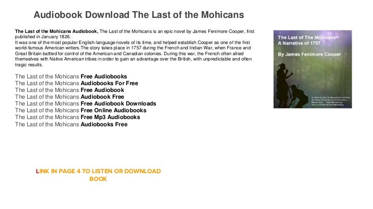 Mohicans mp3 download