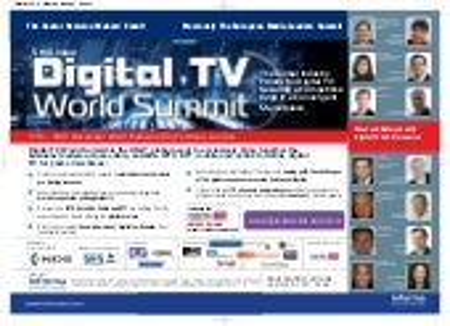 Digital TV World Summit Brochure