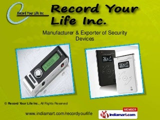 Record Your Life Inc.