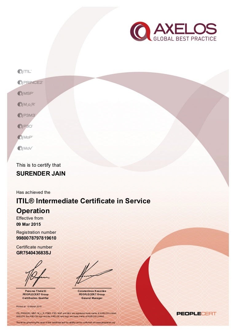 Itil intermediate certificate in service operation certificate 1betcityfo Images