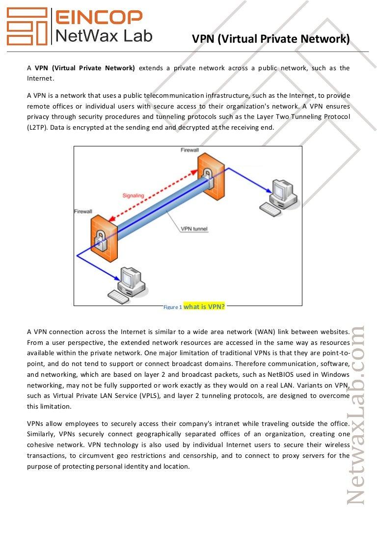 Vpn Virtual Private Network Wireless Diagram