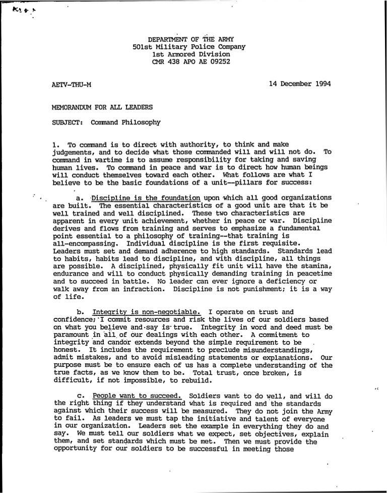 Command Philosophy - 1994