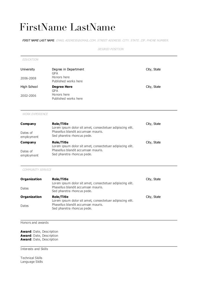 copy of resume student theme - Picture Of A Resume