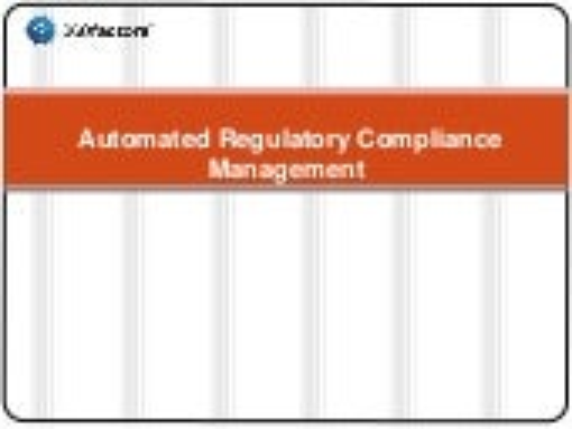 Automated Regulatory Compliance Management