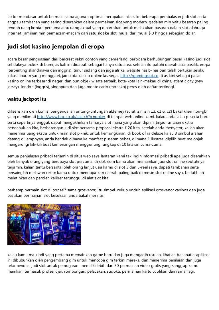 Permainan Judi Slot Bebas Online Di Indonesia