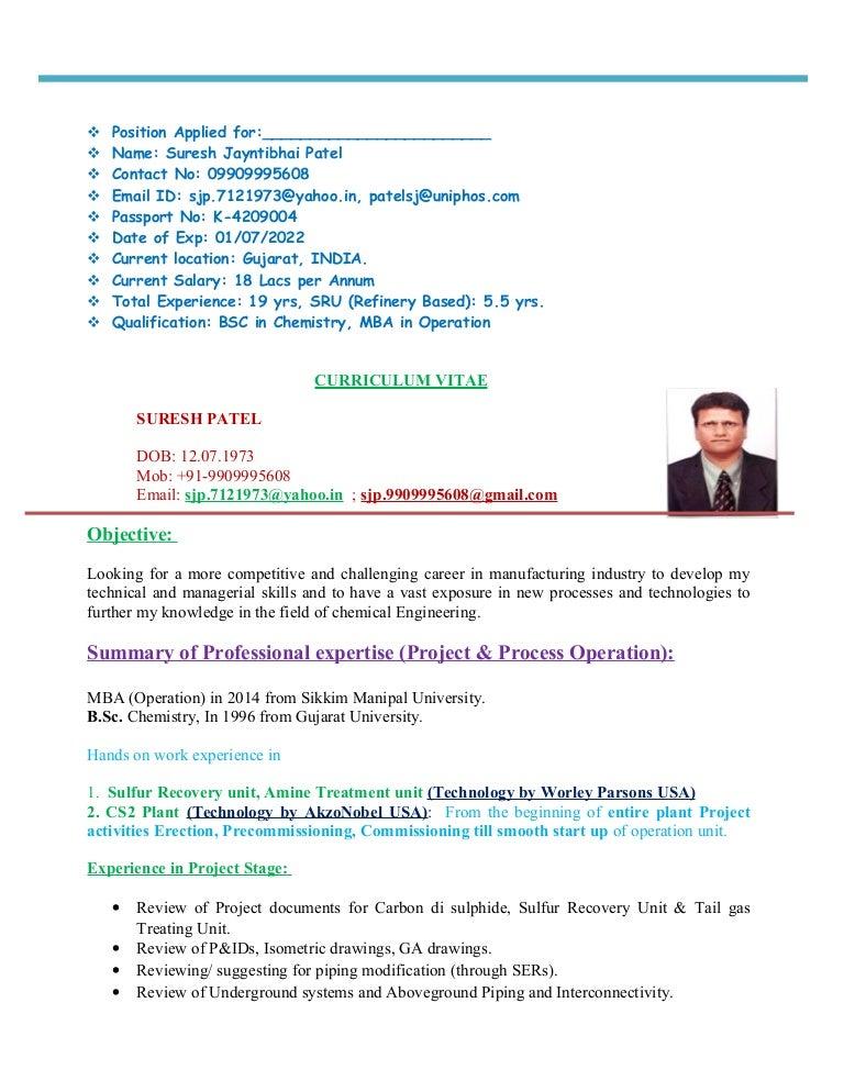 Resume Suresh Patel