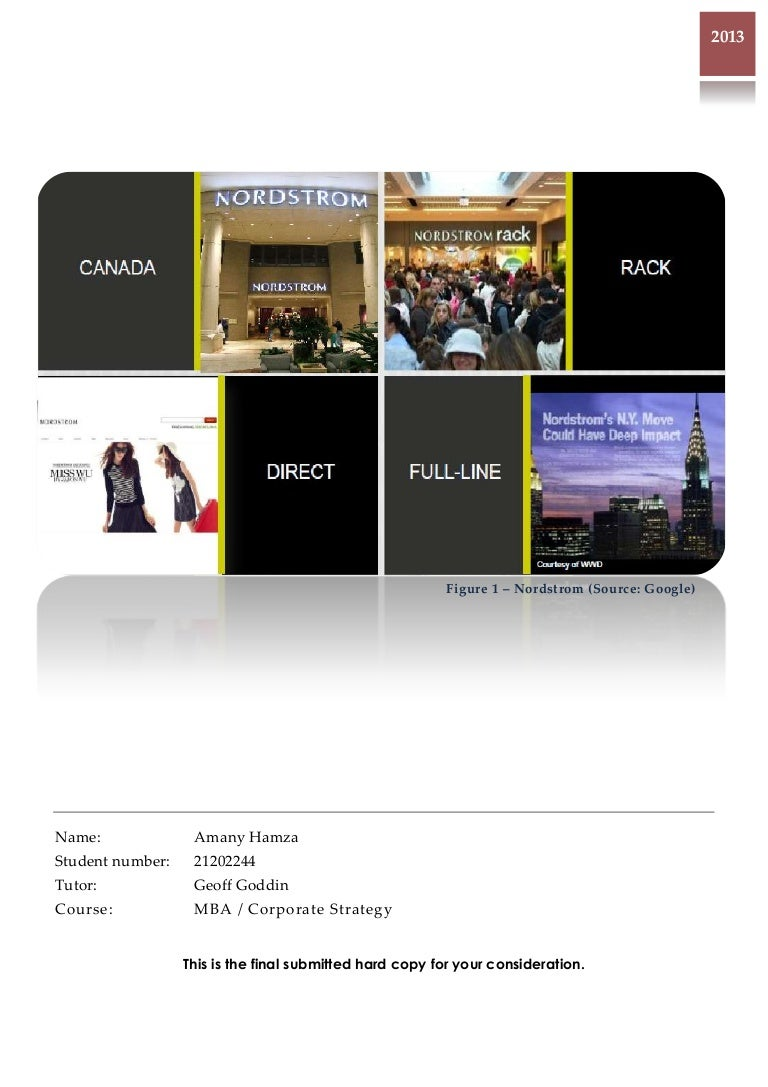 8b7d67b78be4 Corporate Strategy Assignment - Nordstrom by Amany Hamza