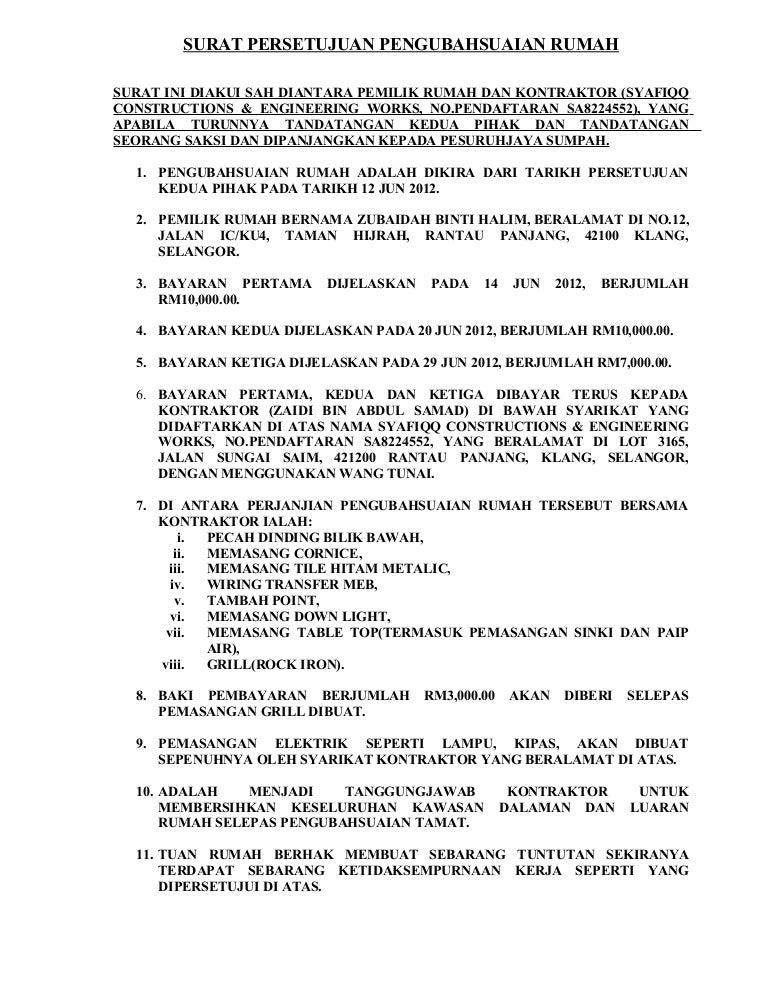 36758716 Surat Persetujuan Pengubahsuaian Rumah