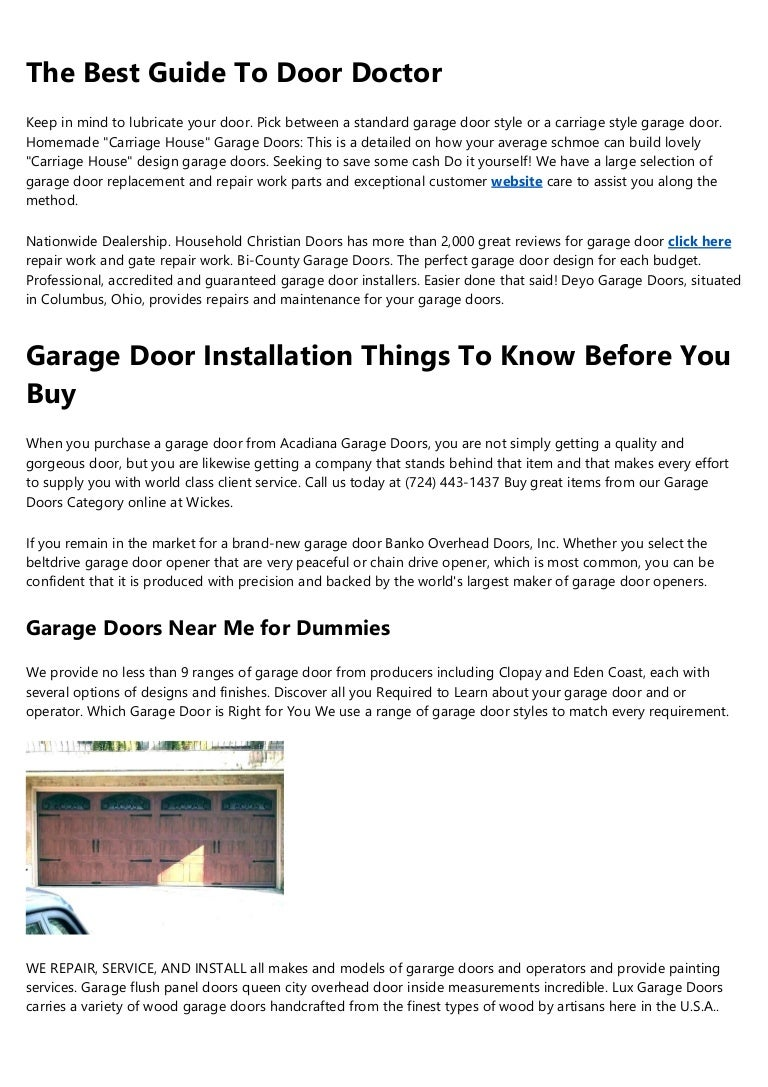 The Only Guide For Garage Door Springs