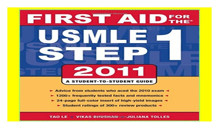 first aid usmle step 1 2011 pdf free download